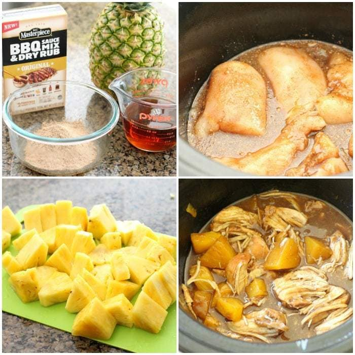 Slow Cooker Maple BBQ Chicken Pineapple - Butter With A Side of Bread