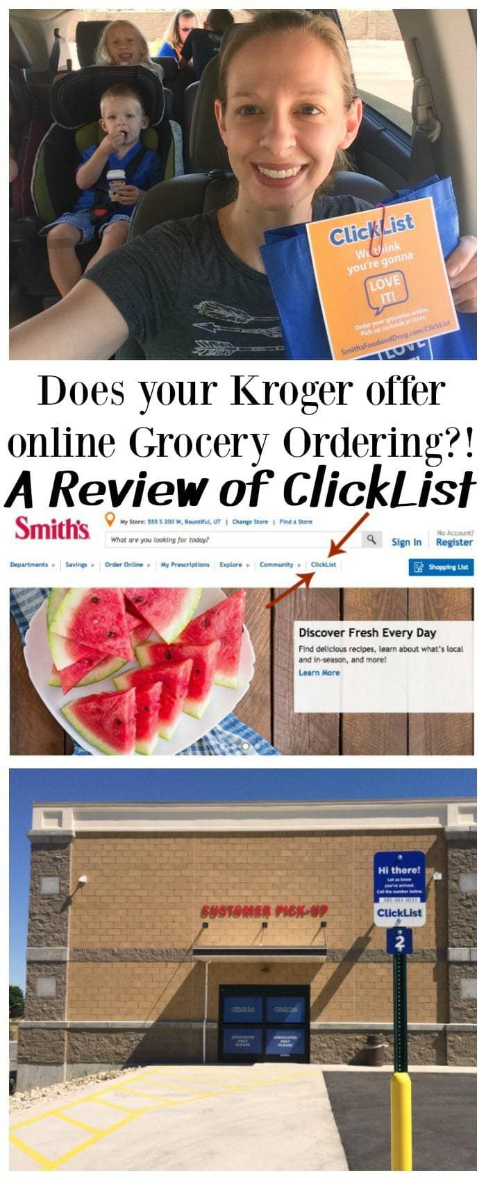 Smith's ClickList Kroger Online Grocery Shopping Utah
