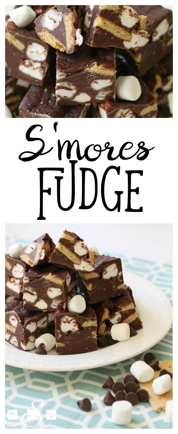I love s'mores so when I found this simple recipe for fudge, I knew I had to try it. It's so easy to make and I love the delicious s'mores flavor! I like to cut it up in small, bite-sized pieces, since it's pretty rich.