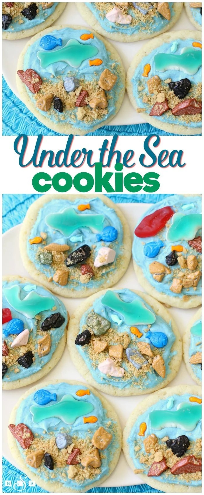 """My kids have always been fascinated with ocean creatures, so when we found out the movie Finding Dory hits theaters tomorrow, then Discovery Channel's Shark Week is 10 days later, well, that calls for some celebrating! We made these cute""""Under the Sea"""" Cookies that are just as fun to make as they are to eat."""