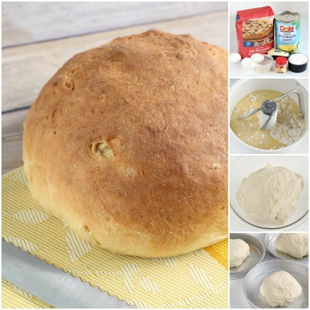 Hawaiian Bread made fresh with butter, eggs, flour, pineapple juice, ginger and vanilla. Simple, flavorful Hawaiian Bread recipe you can enjoy at home!