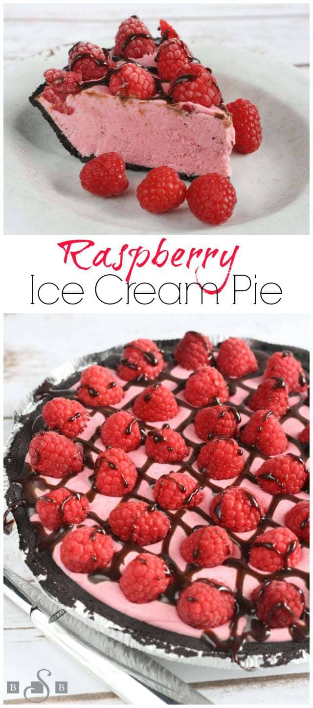 Raspberry Ice Cream Pie - Butter With a Side of Bread