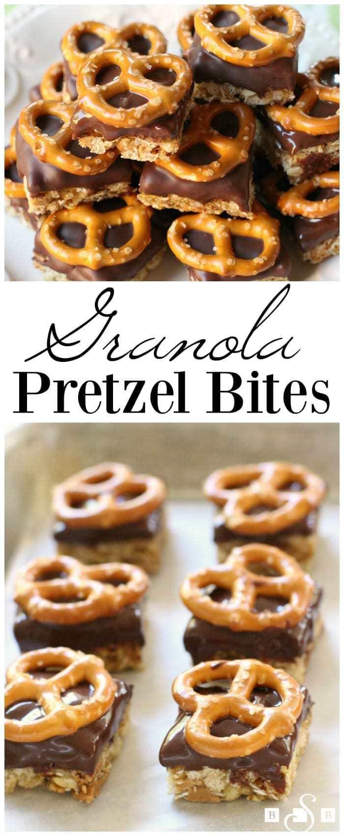 Granola Pretzel Bites - Butter With A Side of Bread