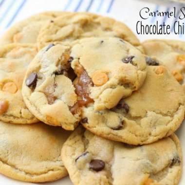 Caramel Stuffed Chocolate Chip Cookies - Butter With A Side of Bread