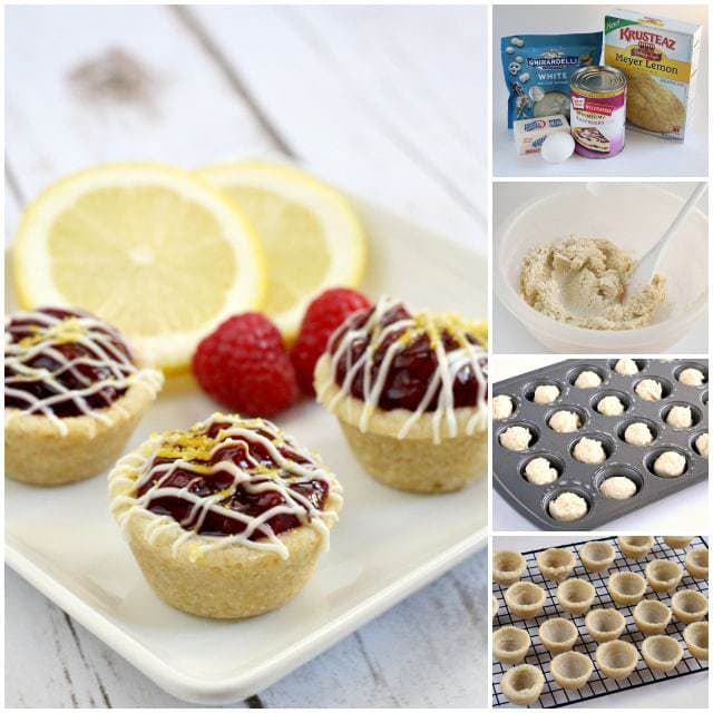 Lemon Raspberry Cookie Cups - Butter With a Side of Bread