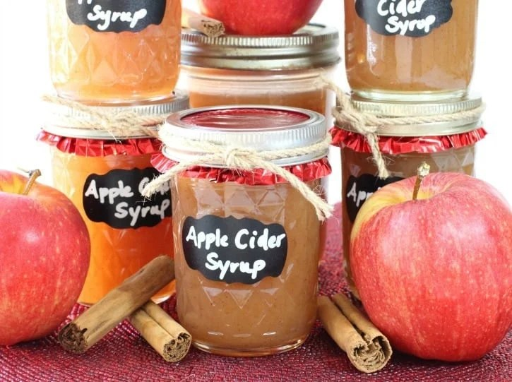 Easy Apple Cider Syrup made with simple ingredients including apple cider & pumpkin pie spice! This delightful homemade syrup recipe is easy to make and tastes wonderful.