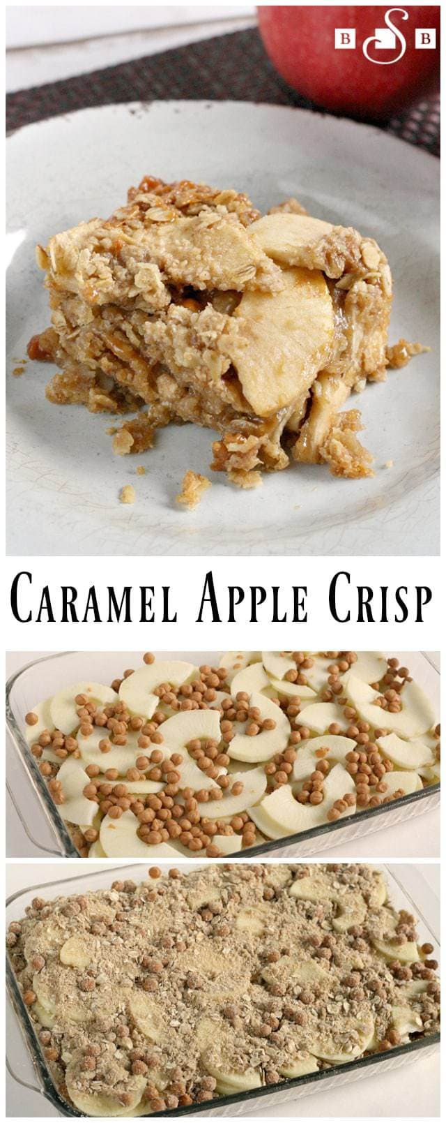 Who else is so excited for fall? Fall is the season for apples and I love the addition of caramel to this favorite traditional dessert. Everything is better with caramel added to it, and this dessert is no exception! Add a scoop of vanilla ice cream if you are feeling extra indulgent, but either way you will love this decadent dessert!