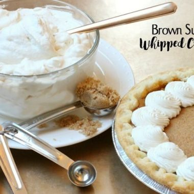 Brown Sugar Whipped Cream - Butter With A Side of Bread