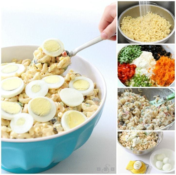 Egg Macaroni Salad.BSB.collage