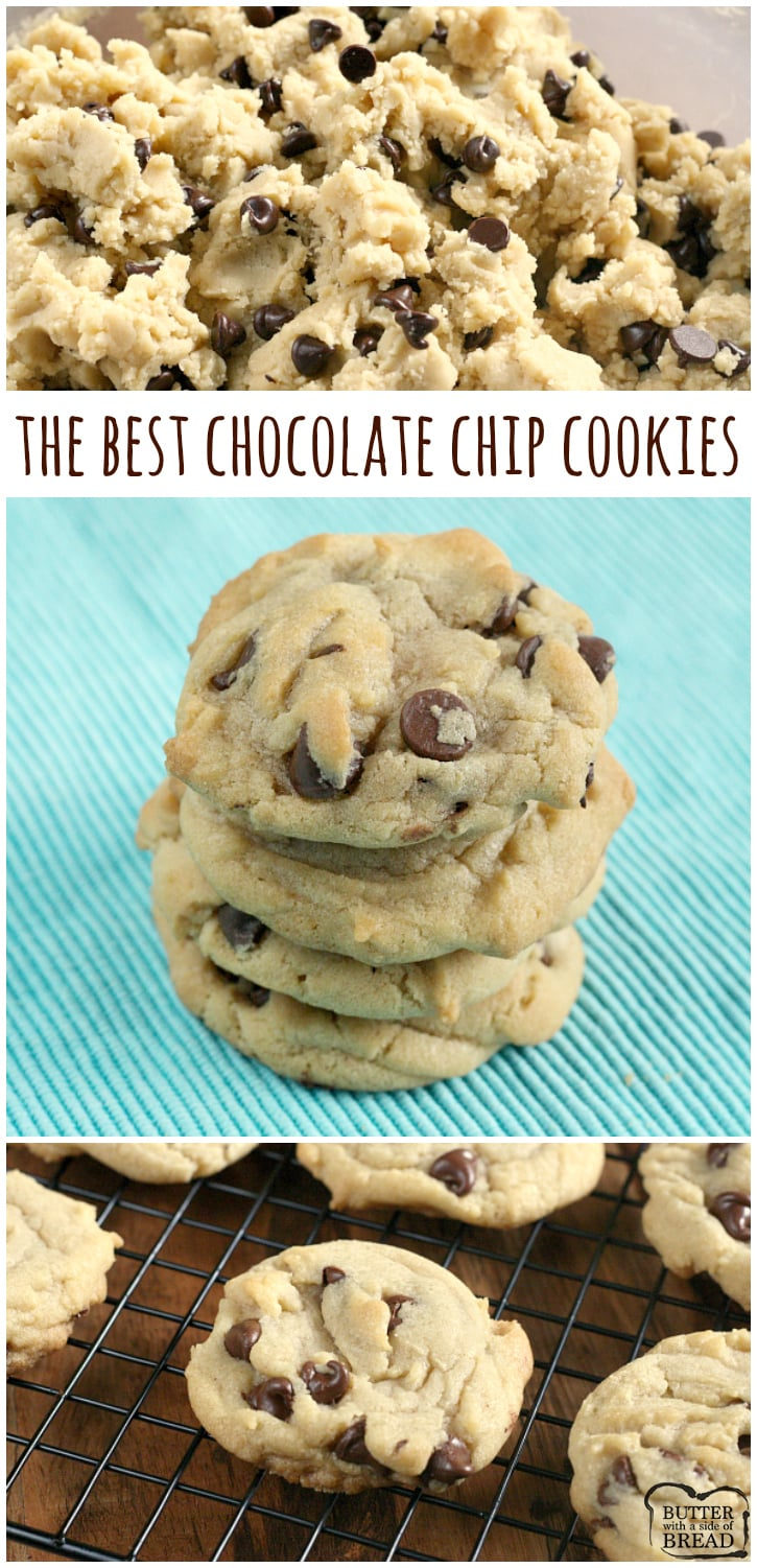 The best Chocolate Chip Cookies are soft, chewy and easy to make too! After trying dozens of different chocolate chip cookie recipes, this one is the best!