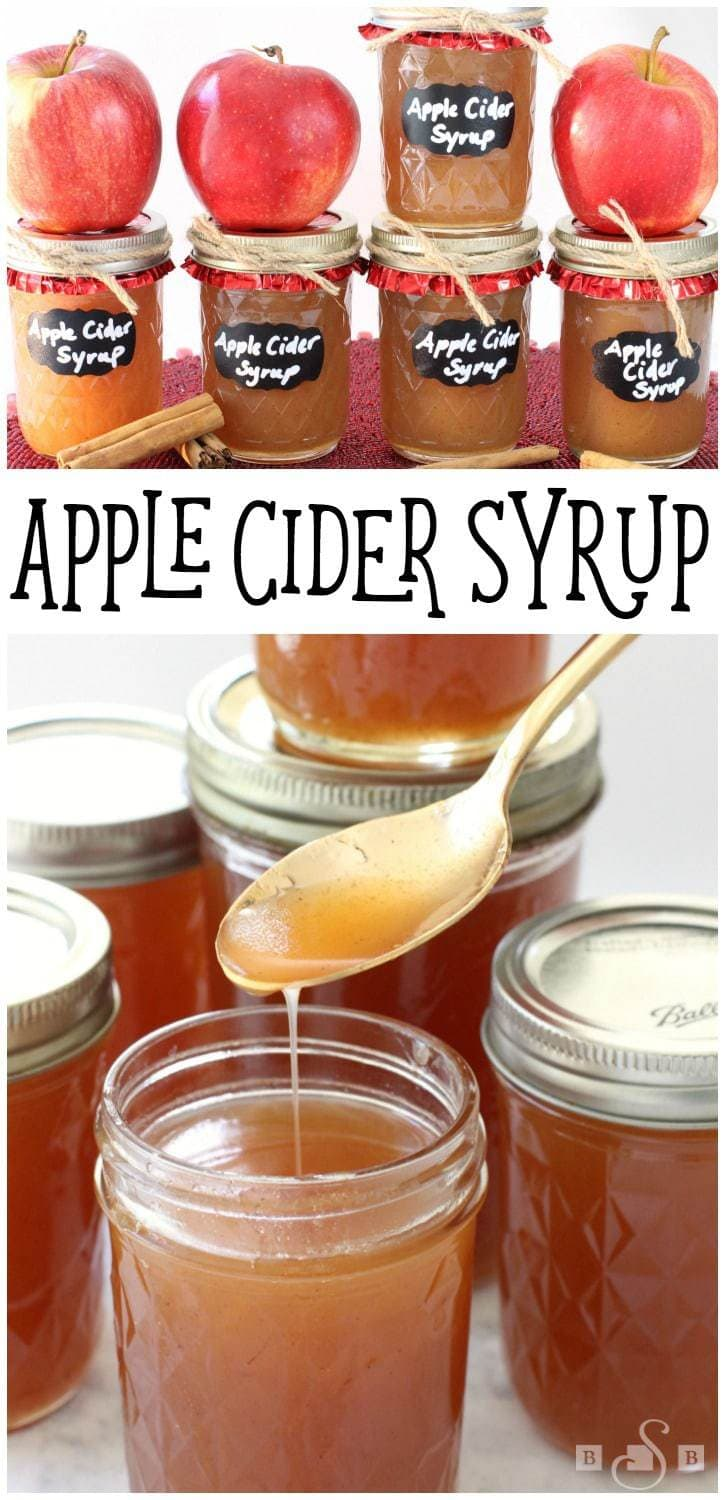 This is probably one of my favorite apple cider recipes, and one of my favorite homemade syrups! Whether you use it as a pancake syrup, or a waffle syrup, or even an ice cream syrup, it's sure to make whatever you're eating more tasty!Apple Cider Syrup - Butter With A Side of Bread #homemadesyrup #pancakesyrup #howtomakesyrup #appleciderrecipe