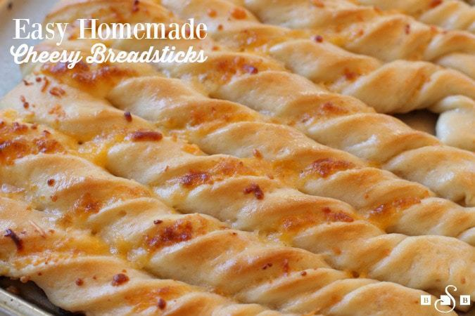 Easy Homemade Cheesy Breadsticks - Butter With A Side of Bread