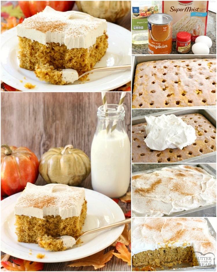 how to make pumpkin poke cake
