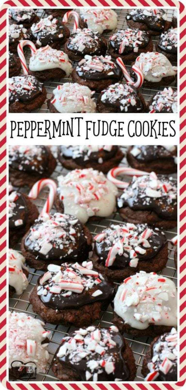 Peppermint Fudge Cookies - Butter With A Side of Bread