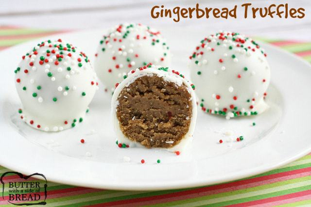 Gingerbread Truffles Butter With A Side Of Bread