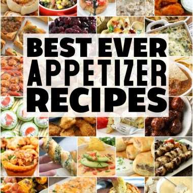 Easy appetizer recipes with few ingredients and minimal prep time are exactly what you need for any party! Fantastic collection of the BEST appetizer ideas ever!