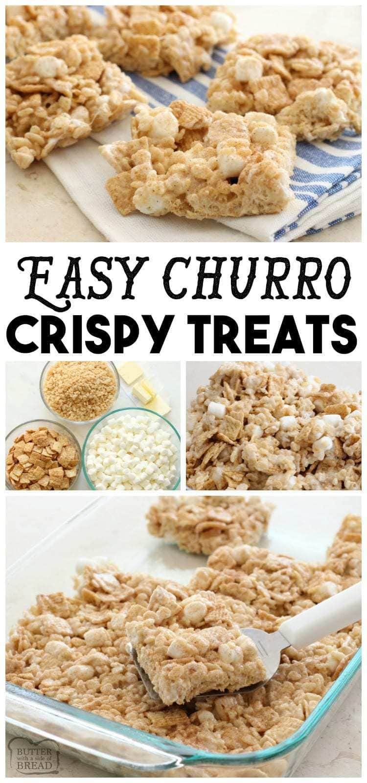 Easy Churro Crispy Treats - Butter With A Side of Bread