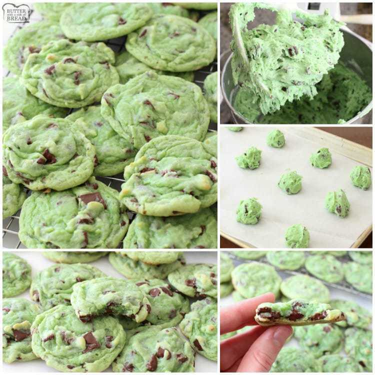 Mint Chocolate Pudding Cookies - Butter With A Side of Bread