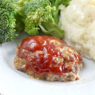 MINI MEATLOAF RECIPE with CHEDDAR CHEESE