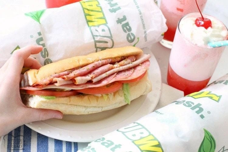Cherry Italian Cream Sodas with Subway's new Italian Hero Sandwich ~ Butter With A Side of Bread
