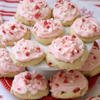 FROSTED PEPPERMINT COOKIES