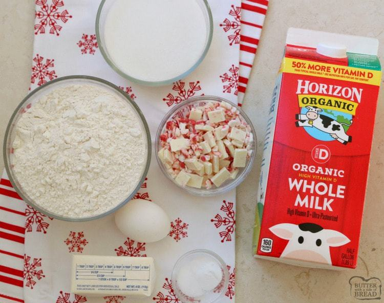 Frosted Peppermint Cookies are soft, pillowy cookies baked with peppermint candy and topped with peppermint vanilla buttercream and candy cane pieces. Recipe ingredients with Horizon Organic milk.