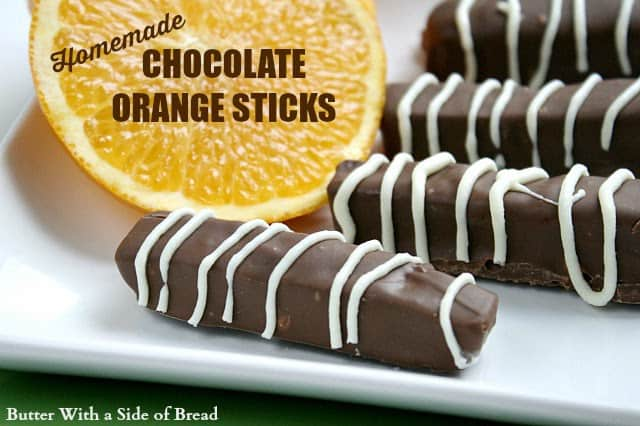Chocolate Orange Sticks are made with a delicious orange jelly filling dipped in melted chocolate - a favorite holiday candy!