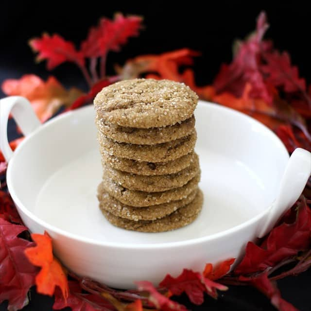 Soft Pumpkin Gingersnap Cookies combine all your favorite holiday spices with the amazing taste and texture of pumpkin, to create cookie perfection!