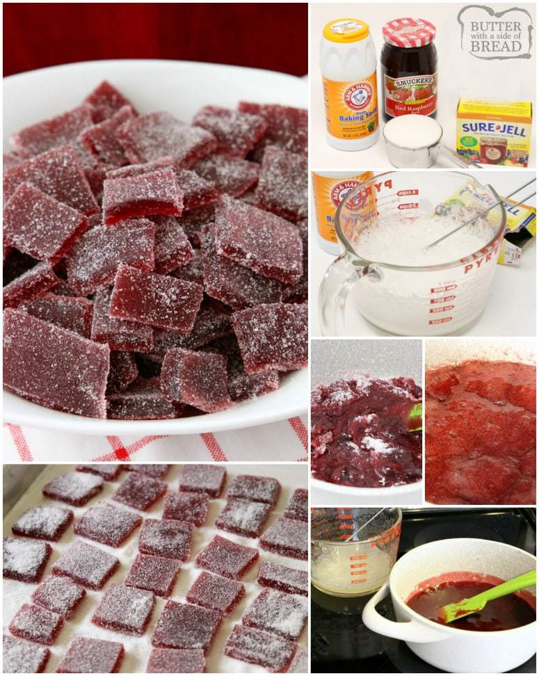 Raspberry Jelly Candy is soft, sweet candy with bright raspberry flavor. Just 5 ingredients & under 10 minutes active time, they're a lovely holiday treat!