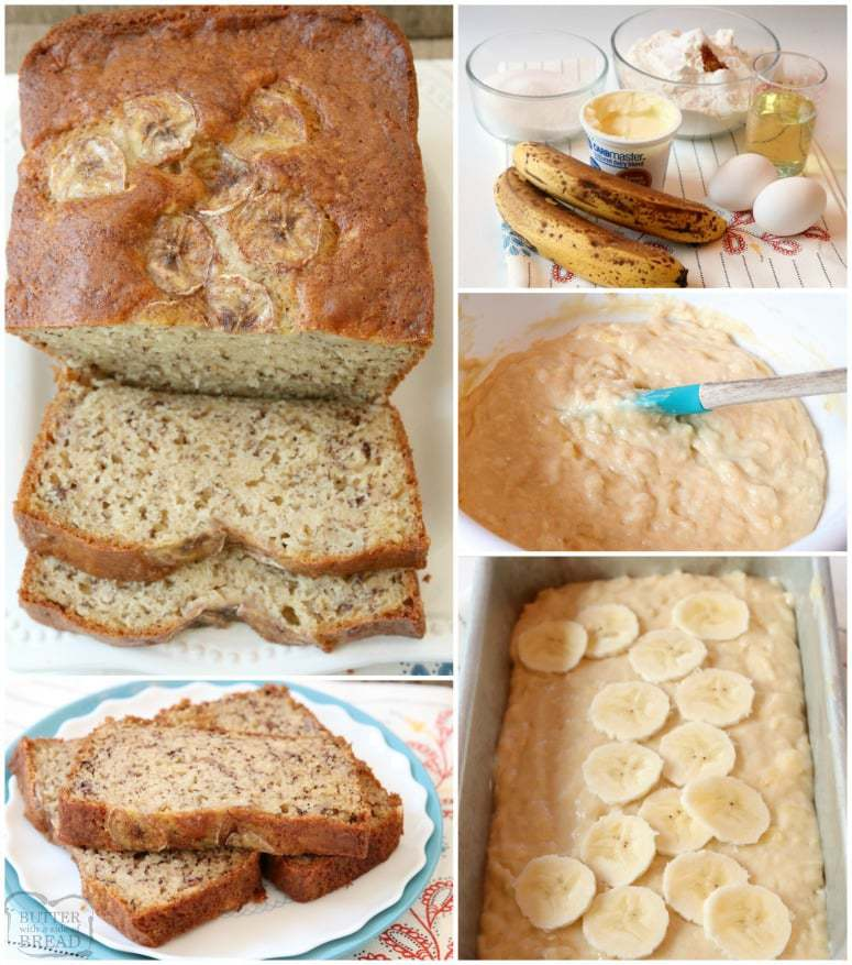 How to make moist banana bread. Yogurt Banana Bread is the BEST banana bread recipe ever! Made with yogurt and ripe bananas, it's super easy to make, light, moist & has the best flavor.