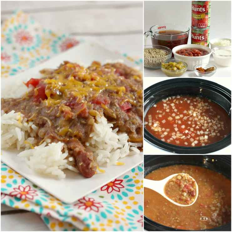 Slow Cooker Madras Lentils are full of red beans, lentils, tomatoes and can be served over rice for a delicious, healthy, vegetarian dinner the whole family will enjoy!
