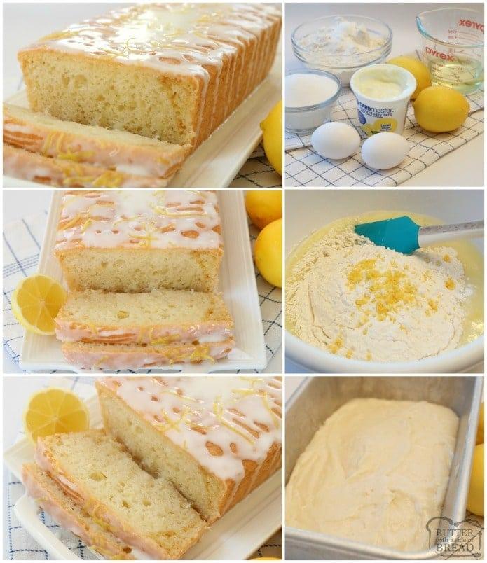 How to make Lemon Bread with lemon yogurt in it. How to make moist lemon bread.