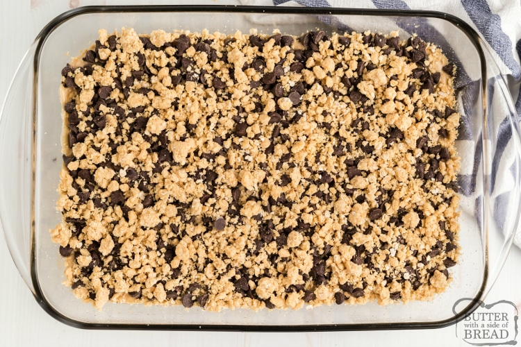 Cake mix dessert with chocolate, peanut butter, oatmeal and cream cheese