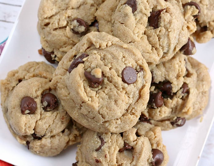 Peanut Butter Oatmeal Chocolate Chip Cookies - Butter With a Side of Bread