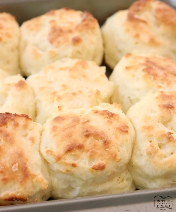 Easy Sour Cream Biscuit Recipe made from scratch in minutes. Perfect soft, flaky texture with fantastic buttery flavor. This will be your new favorite homemade biscuit recipe! Updated with expert advice on how to make easy biscuit recipe.