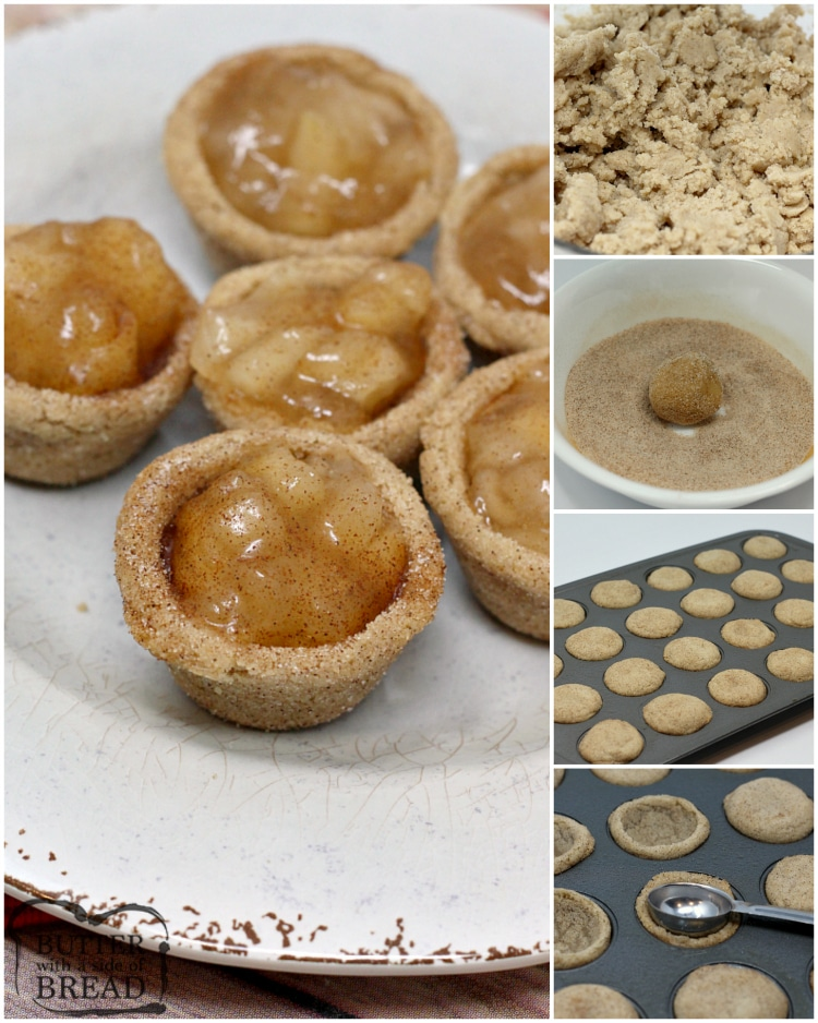 Step by step instructions on how to make mini apple pies