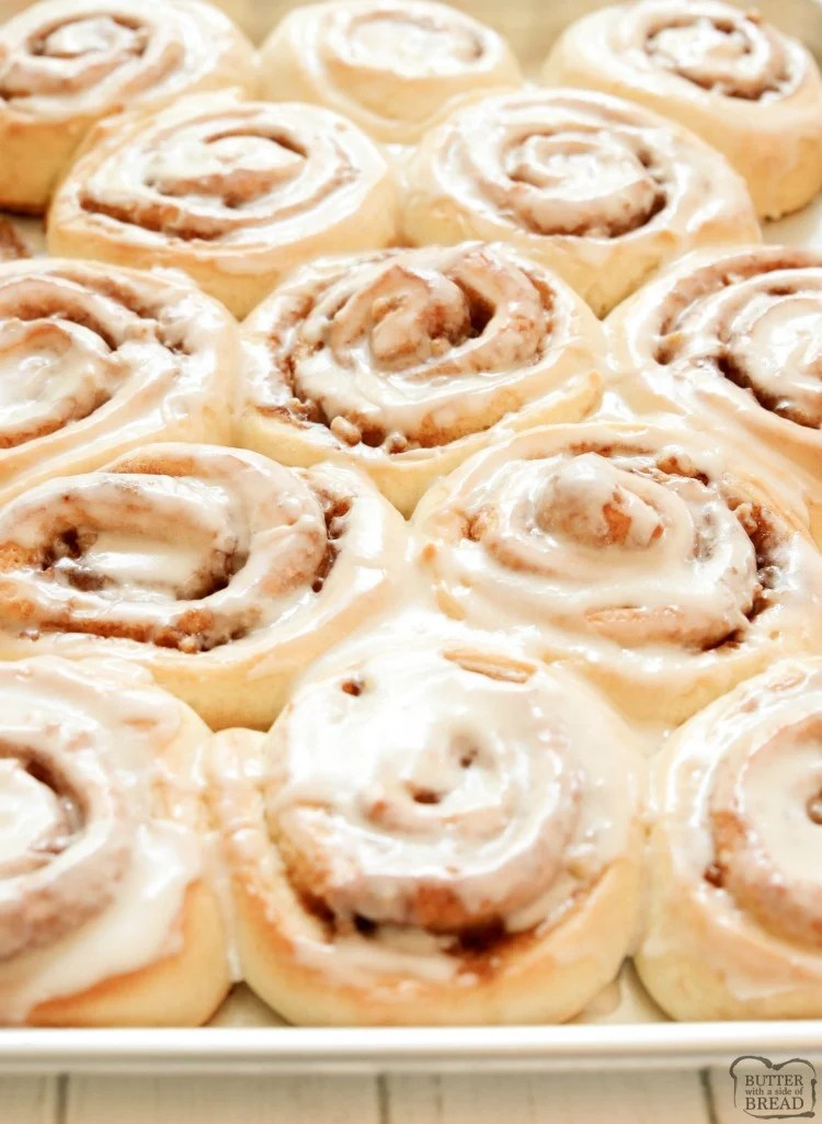 Cinnamon Rolls made from scratch that yield feather-light sweet rolls with pecans, cinnamon and a lovely vanilla glaze. Best cinnamon roll recipe ever! Cinnamon Rolls made from scratch that yield feather-light sweet rolls with pecans, cinnamon and a lovely vanilla glaze. Best cinnamon roll recipe ever!
