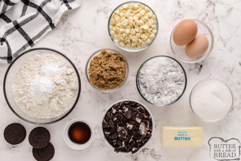 Ingredients in Cookies and Cream Cookies
