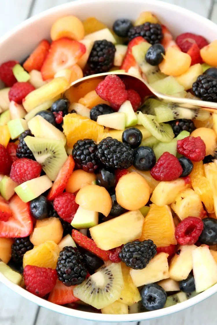 Fancy Fruit Salad Recipe Butter With A Side Of Bread