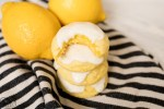 lemon cake mix cookies with lemon glaze on top