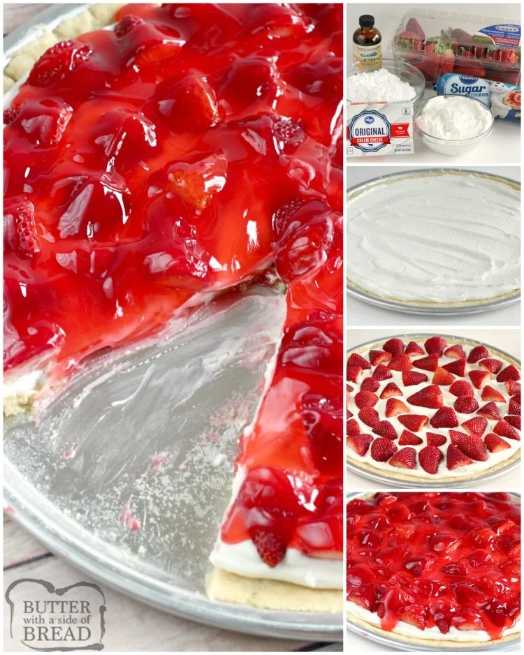Step by step instructions on how to make fruit pizza with strawberries