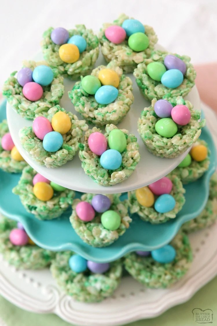 Easter Rice Krispie Treats Butter With A Side Of Bread