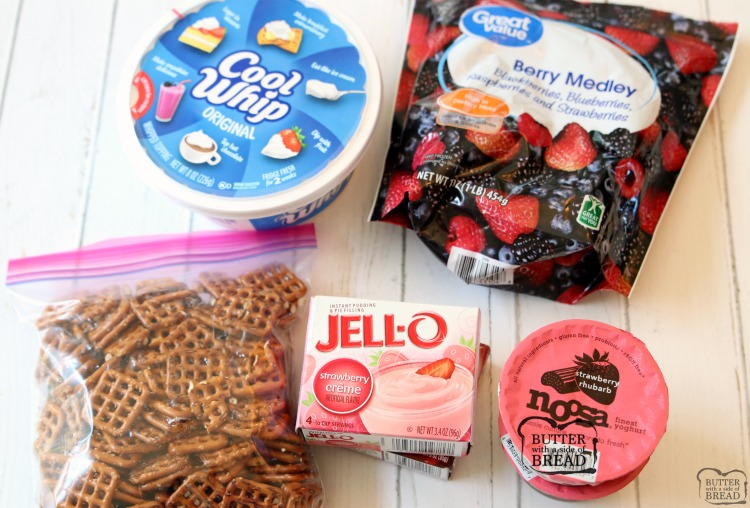 Berry Jello Pretzel Salad ingredients how to make berry jello pretzel salad