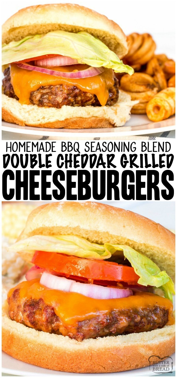 Easy Cheeseburgers are a delicious, lip smacking summertime BBQ staple at my house. With only four ingredients, this cheeseburger recipe is quick, easy and flavorful.
