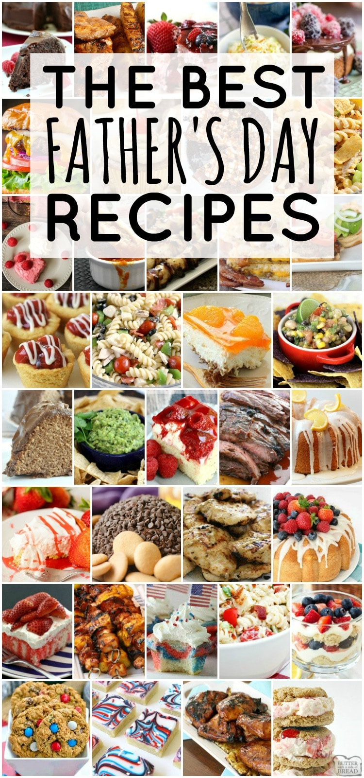 Best Father's Day recipe ideas for a very special day! Our favorites to make for Dad- everything from Father's Day Brunch to Father's Day Cake! Enjoy!