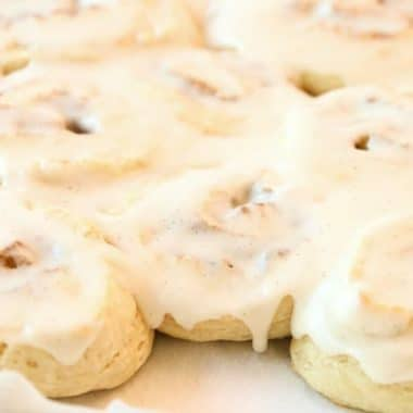Easy Cinnamon Rolls with no yeast