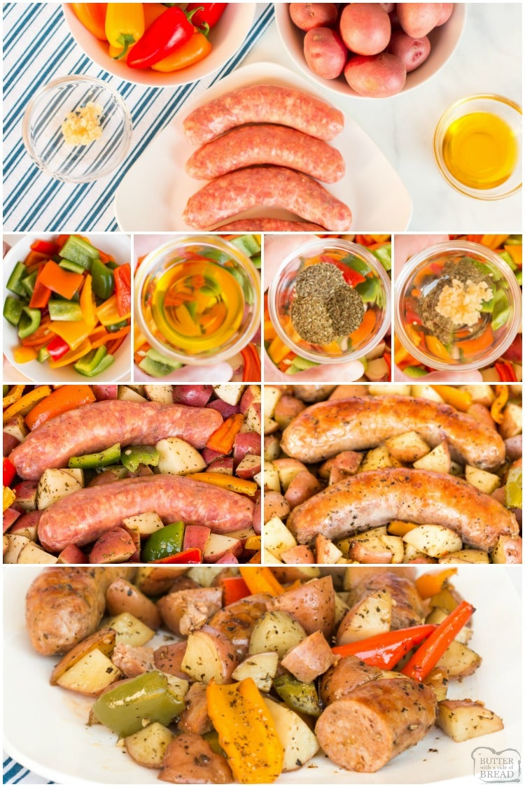 How to make sausage and peppers in the oven