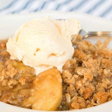 apple crisp recipe with ice cream