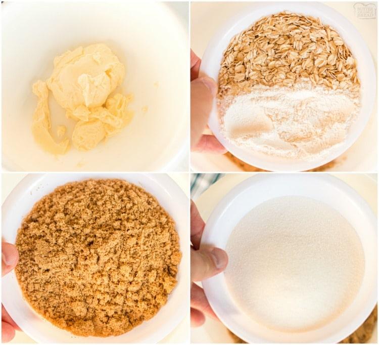 How to make apple crisp topping