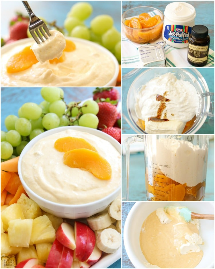 how to make easy fruit dip with cream cheese and marshmallow fluff